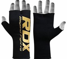 RDX Boxing Hand Wraps Inner Gloves for Punching - Half Finger Elasticated Bandages under Mitts Fist Protection - Great for MMA, Muay Thai, Kickboxing, Martial Arts Training & Combat Sports Boxing Hand Wraps, Martial Arts Training, Krav Maga, Kickboxing, Muay Thai, Mma, Snug Fit, Gloves, Hands