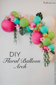 DIY Floral Balloon W