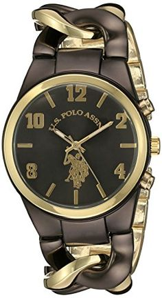 US Polo Assn Womens USC40177 Analog Display Analog Quartz Two Tone Watch * Want to know more, click on the image.