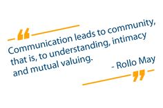 """""""Communication leads to community, that is, to understanding, intimacy and mutual valuing."""" - Rollo May . Motivation Success, Business Motivation, Integrity, Collaboration, Communication, Community, Marketing, Quotes, Women"""