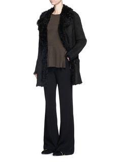 THEORY'Abrienda' reversible lambskin shearling coat