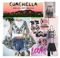 """Coachella vibes (1)"" by chechylmiliani on Polyvore featuring Roberto Cavalli, Gianvito Rossi, NYX, Charlotte Tilbury, Miss Selfridge, Jessica Carlyle, festival, Bohemian and coachella"