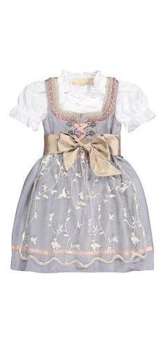 Krüger Mädchen-Dirndl mit Bluse und Schürze Girls Dresses, Flower Girl Dresses, Wedding Dresses, German, Fashion, Clothing, Flower Girl Gown, Silk, Blouse