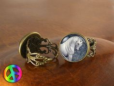 Unicorn Pegasus (3) Adjustable Ring Rings Vintage Antique Womens Jewelry Gift