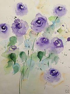 """Aquarell , """" Blumen in der Vase """" 30 x 40 cm , Unikat, Aquarellmalerei, Blumen (scheduled via http://www.tailwindapp.com?utm_source=pinterest&utm_medium=twpin&utm_content=post192780331&utm_campaign=scheduler_attribution)"""