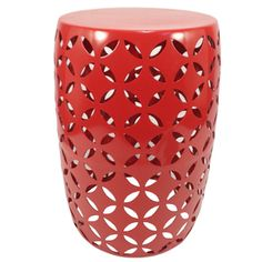 for the balcony - Garden Treasures 19.4-in Red Powder-Coated Steel Round Plant Stand