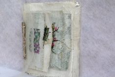 Willy Schut, book 'Garden glimpses' - mixed media textile book with embroidery