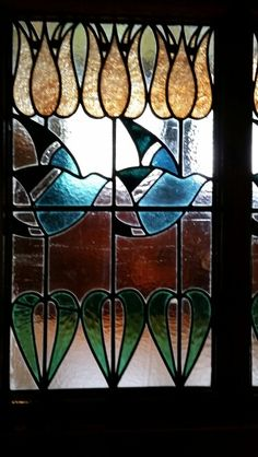 Window at Blackwell Arts and Crafts House, the Lake District