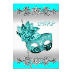 >>>Are you looking for          	Silver Turquoise Blue Masquerade Party RSVP Personalized Invitation           	Silver Turquoise Blue Masquerade Party RSVP Personalized Invitation lowest price for you. In addition you can compare price with another store and read helpful reviews. BuyShopping   ...Cleck Hot Deals >>> http://www.zazzle.com/silver_turquoise_blue_masquerade_party_rsvp_invitation-161127355467513082?rf=238627982471231924&zbar=1&tc=terrest