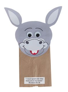 "Baalam's Talking Donkey Puppets (215-831) from Guildcraft Arts & Crafts!     How can a donkey talk? Through an angel of course! Children will learn from this craft that we must listen to God! They will enjoy making their donkey talk! Includes precut and precolored donkeys, wiggle eyes, preprinted verses and paper bags. 9 1/2"" x 12 1/2"". Package of 24."