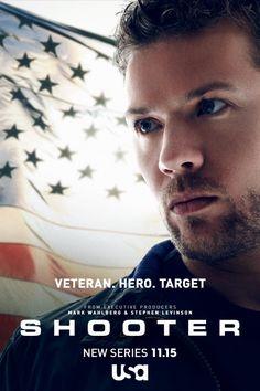 TV: Shooter. De genre is actie. Het is een serie op Netflix. Het gaat over een ex-marinier die terug komt als sluipschutter. Hij wil de president tegen een moordaanslag beschermen. Hij wordt zelf verdachte en hij probeert zijn onschuld te bewijzen. Ik vind actiefilms leuk.