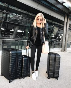 "14.1k Likes, 188 Comments - Emily Luciano (@emily_luciano) on Instagram: ""Made it back to NYC ❤️ thank goodness for @uber_nyc to help me with all of my luggage 👜💼 { off to…"""