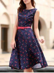 SHARE & Get it FREE   Vintage Jewel Neck Cherry Print Sleeveless Flare Dress For WomenFor Fashion Lovers only:80,000+ Items • New Arrivals Daily • Affordable Casual to Chic for Every Occasion Join Sammydress: Get YOUR $50 NOW!