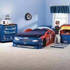 Kids Bedroom Sets Boys speedster ventura race car bed - white | kids rooms | pinterest