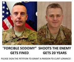 This must disgust you: Clint Lorance denied clemency while disgraced sexual deviant general cuts plea deal