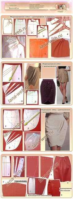 Моделируем юбку с драпировками