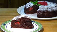 Receta Pastel jugoso de chocolate con frambuesas - Recetas de cocina, paso a paso, tutorial - YouTube