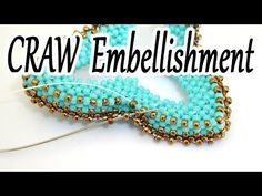 CRAW decoration - How to create a Cubic RAW embellishment all around a CRAW open shape - YouTube