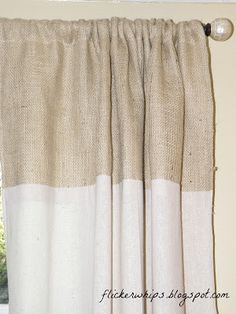 curtain panels made from burlap and osnaburg!