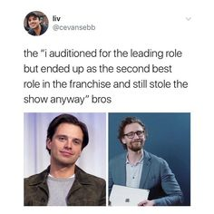 Sebastian Stan and Tom Hiddleston are the best at their parts and no one else could play it