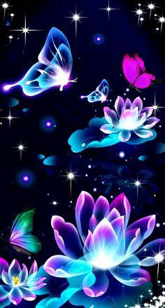Flowers Wallpaper Iphone Purple Backgrounds Ideas For 2019 Flower Phone Wallpaper, Neon Wallpaper, Butterfly Wallpaper, Butterfly Art, Cellphone Wallpaper, Disney Wallpaper, Mobile Wallpaper, Wallpaper Backgrounds, Iphone Wallpaper