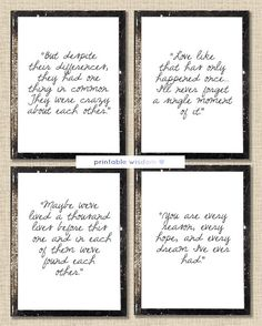 The Notebook Quote prints printable