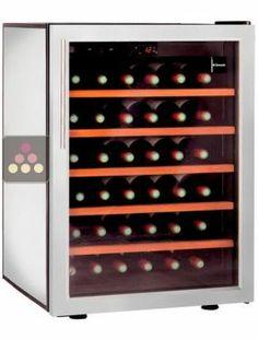 cave vin mono temp rature de vieillissement et de conservation de moyenne capacit r glable. Black Bedroom Furniture Sets. Home Design Ideas