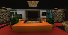 Minecraft Living Room Minecraft Pe Living Room Furniture House Decor Living room furniture Living decor Minecraft houses for girls