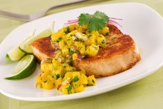 If you observe meat-free Fridays during Lent, use this as a time to experiment a bit with your menus. Bypass the fried fish for something healthier! Pork Chop Recipes, Chicken Recipes, Tuna Recipes, Seafood Recipes, Recipies, Pineapple Salsa, Mango Salsa, Fruit Salsa, Salads
