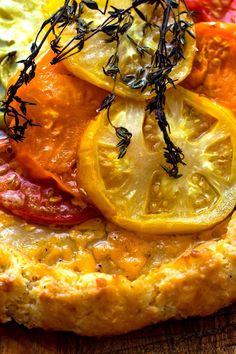 Tomato Crostata With Honey-Thyme Glaze Recipe - NYT Cooking Quiche, Tomato Jam, Summer Tomato, Savory Tart, Glaze Recipe, Thing 1, The Fresh, A Food, Pizza
