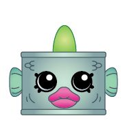 Tin'a'Tuna (Shopkins 1-139) Tin'a'Tuna is a green tin of tuna, with green fins poking out on the top, sides, and back of the tin. Tin'a'Tuna has an orange mouth. There are no variants of this character.  Tin'a'Tuna is a Limited Edition Shopkin from Season One . There are only 500 of this character made.