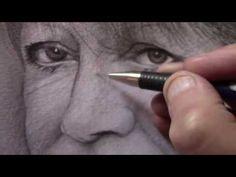 Portrait au crayon réalisé en direct par Ibara