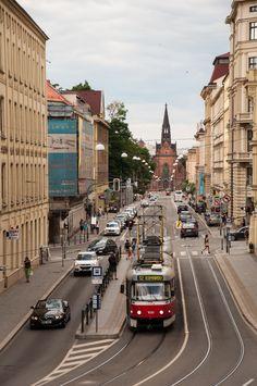 La calle en Brno