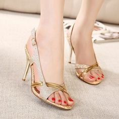 - Ultra modern high heel sandals for the trendy woman - Cute design offers a unique trendy look - Perfect for parties or social events - Made from PU - 11 cm heel height - Available in 2 colors