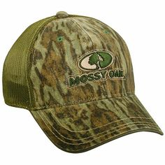 Outdoor Cap Mossy Oak Logo Mesh Cap, One Size, Bottomland. Structured mesh back. Low profile. One size fits most.