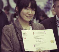 La vincitrice del premio illustratori: Satoe Tone