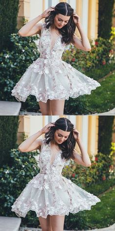 short prom dresses, cute v-neck party dresses, chic a-line homecoming dresses, vestidos
