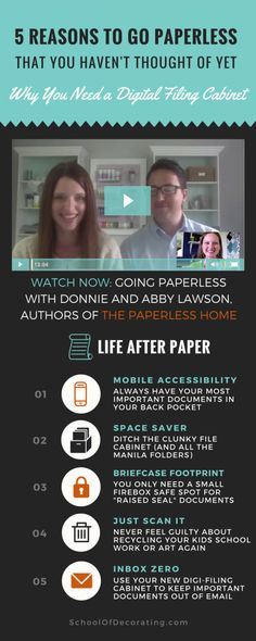 5 Reasons to go paperless and why you need a digital filing cabinet