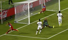 Clint Dempsey scores :25 secs into the game.  5th fastest goal scoring on record now!