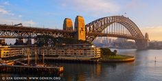 Sydney Harbour Bridge and The Park Hyatt Hotel on Early Morning, Sydney, NSW, Australia. Sydney is Australia's best known city and one of the most popular destinations Down Under. Together with the Sydney Opera House the Harbour Bridge are two parts of the 'I was there' photographic record. Major hotels are located at the Circular Quay, the Rocks and the Darling Harbour making sightseeing easy. Sydney Harbour Bridge was 80 years old in 2012, having been officially opened in 1932. The bridge…