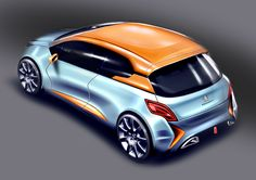 peugeot 206 concept sketch automotive car design photoshop sketch render Alessandro_Zanotti