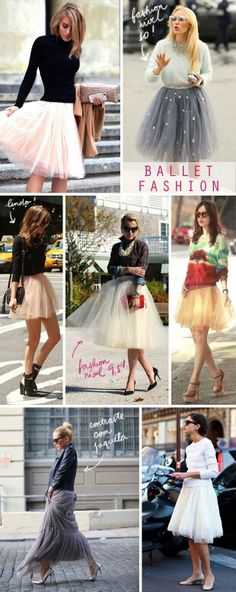 Ballerina fashionista: so want several (one isn't enough)! So gonna try this fashion from sex in the city beautiful tutu skirts tulle Fashion Moda, Love Fashion, Fashion Beauty, Womens Fashion, Luxury Fashion, Ballet Fashion, Mode Outfits, Skirt Outfits, Look Chic