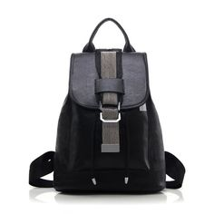 Textured PU Leather Strap Metal Backpack #>=#>=#>=#>=#> Click on the pin to check out discount price, color, size, shipping, etc. Save and like it!