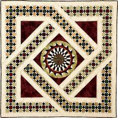 Bella Roma, floor tile quilt by Norah McMeeking