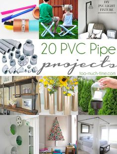 Main Ingredient Monday- 20 PVC Pipe Projects