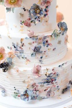 Summer Wedding Cakes, Black Wedding Cakes, Floral Wedding Cakes, Wedding Cake Rustic, Beautiful Wedding Cakes, Wedding Cake Designs, Wedding Cupcakes, Perfect Wedding, Fall Wedding