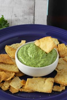 Kale Pesto Dip is a zesty and fairly healthy dip recipe to enjoy while watching football or getting ready for dinner. #SundaySupper
