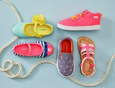Cute. Comfy. Colorful. We can't seem to get enough of these adorable designs from Carter's. Not only is their footwear stylish and fun, but also protective and functional. Supportive sneakers feature non-slip soles that are perfect for little walkers. Gored slip-ons provide flexibility and make for easy on and off. Bump toe sandals keeps toes covered while being breathable and sturdy for adventurous feet.