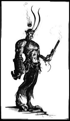 [Hellboy] by Bradley Wright