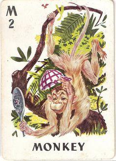 Vintage Monkey Animal Rummy Card by cindyiscrafty, via Flickr